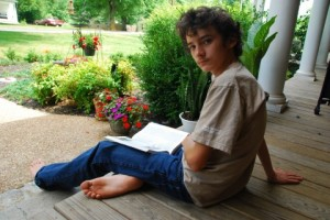 Gray on front porch